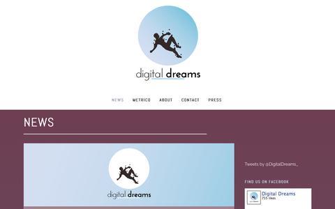 Screenshot of Press Page digitaldreamsgames.com - Digital Dreams     News - captured Feb. 9, 2016
