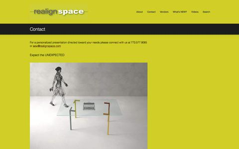 Screenshot of Contact Page realignspace.com - Contact Us for a Personalized Presentation - captured Oct. 6, 2014