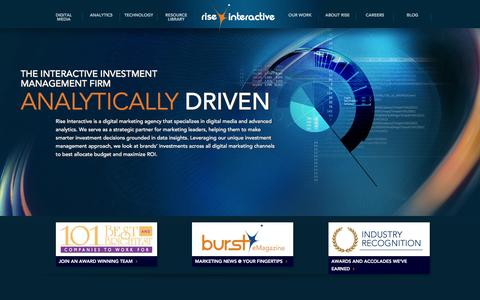 Analytics Driven Digital Marketing Agency | Rise Interactive