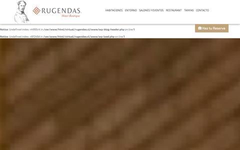 Screenshot of Home Page rugendas.cl - Hotel Rugendas - captured Oct. 3, 2014