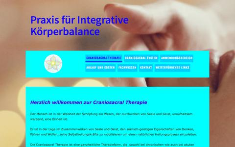 Screenshot of jimdo.com - Gesundheit Heilung Therapie Cranio Bern Emmental Oberland Seeland Freiburg - Craniosacral Therapie Bern Schweiz - captured June 14, 2018