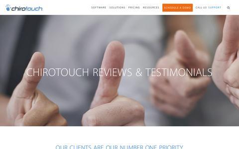 Screenshot of Testimonials Page chirotouch.com - ChiroTouch Reviews and Testimonials - captured May 16, 2017
