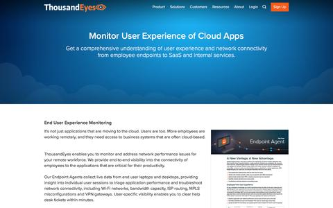 End User Experience Monitoring | ThousandEyes