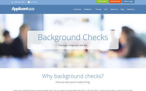 Background Checks - ApplicantPro