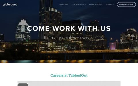 Screenshot of Jobs Page tabbedout.com - Careers — TabbedOut - captured Nov. 5, 2015