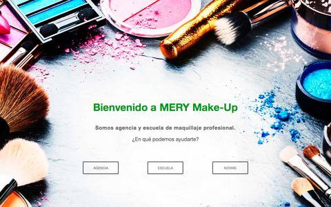 Screenshot of Home Page merymakeup.com - Maquillaje Profesional - Agencia y Escuela   MERY Make-Up - captured Nov. 8, 2016