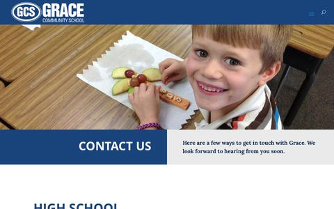 Screenshot of Contact Page gracetyler.org - Contact Grace – Grace Community School - captured Sept. 6, 2017