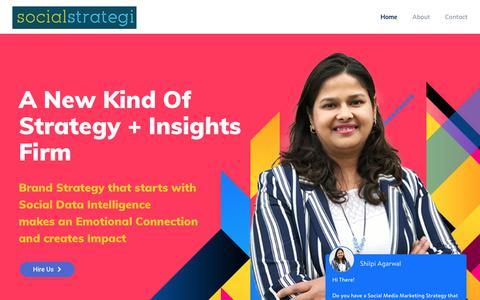 Screenshot of Home Page socialstrategi.com - Brilliant Social Media Strategy – Social Strategi - captured April 21, 2018