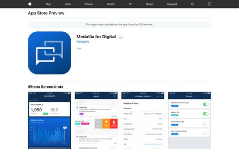 Medallia for Digital on the AppStore