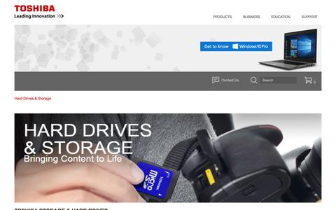 Screenshot of toshiba.com - Hard Drives and Storage | Toshiba - captured March 25, 2017