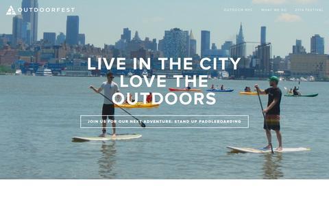 Screenshot of Home Page outdoorfest.org - OutdoorFest - captured Sept. 30, 2014