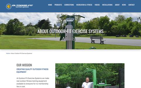 Screenshot of About Page outdoor-fit.com - About Outdoor-Fit Exercise Systems | Outdoor Fitness Equipment - captured Nov. 2, 2017