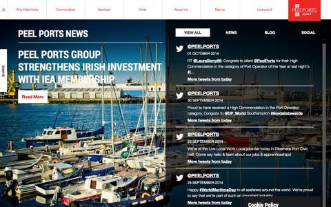 Screenshot of Press Page peelports.com - News   Peel Ports - captured Oct. 2, 2014