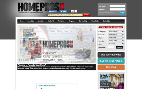 Screenshot of Signup Page homeprosguide.com - Home Pros Guide | Home Improvement Magazine & Advertising - captured May 21, 2017
