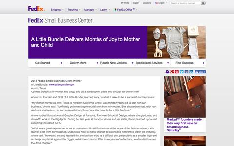 Screenshot of Case Studies Page fedex.com - Subscription-based Baby Gift Packages - captured Sept. 18, 2017