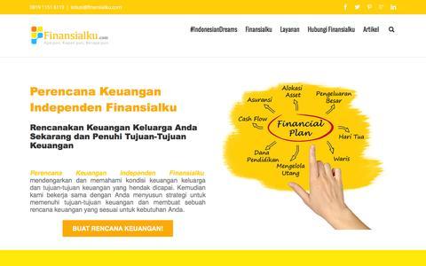 Screenshot of Home Page finansialku.com - Perencana Keuangan Independen Finansialku - captured Jan. 18, 2016
