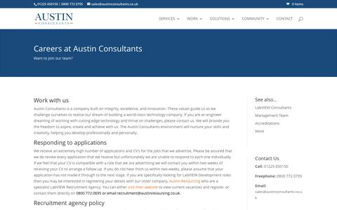 Screenshot of Jobs Page austinconsultants.co.uk - LabVIEW Careers with Austin Consultants - captured May 31, 2017