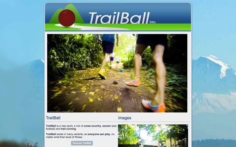 Screenshot of Home Page trailball.net - TrailBall Official Site - captured Sept. 26, 2014