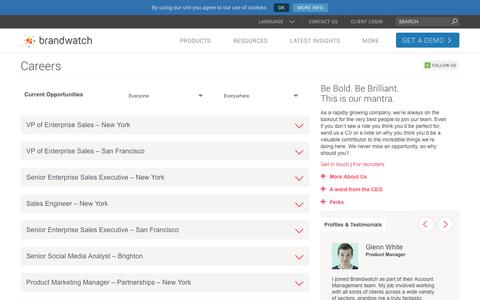 Jobs - Careers at Brandwatch