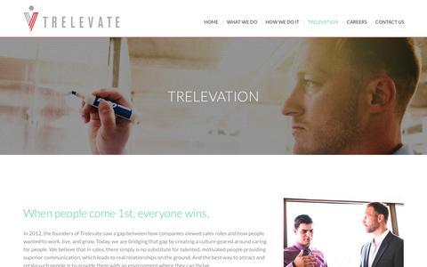 Screenshot of Blog trelevate.com - TRELEVATION - The On Demand Sales Blog - captured Nov. 7, 2017