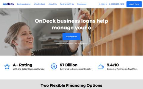 Small business loans and credit insights from OnDeck