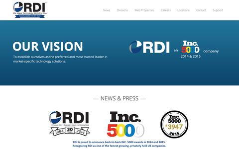 Screenshot of Home Page rdi.com - Computer Networking   Managed Services   A-V Systems   RDI - captured Feb. 15, 2019