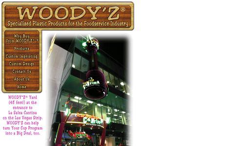 Screenshot of Home Page woodyz.com - index - captured Sept. 30, 2014