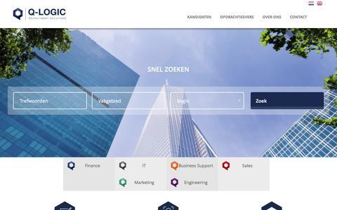Screenshot of Home Page q-logic.nl - Q-logic - captured Jan. 22, 2016