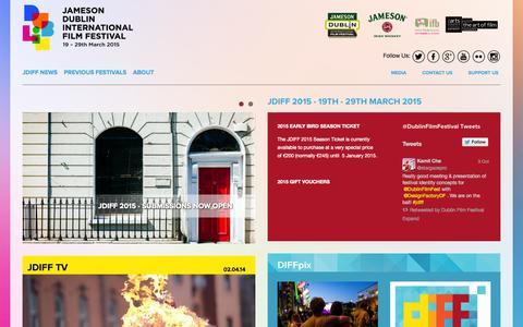 Screenshot of Home Page jdiff.com - Jameson Dublin International Film Festival - captured Oct. 6, 2014