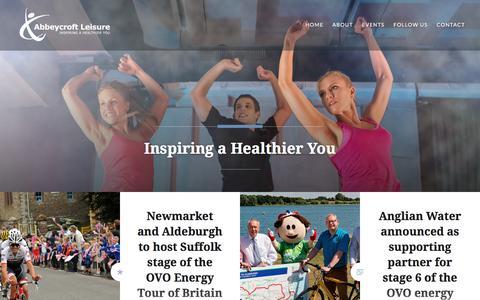 Screenshot of Press Page wordpress.com - Abbeycroft Leisure – Inspiring a Healthier You - captured Oct. 7, 2017