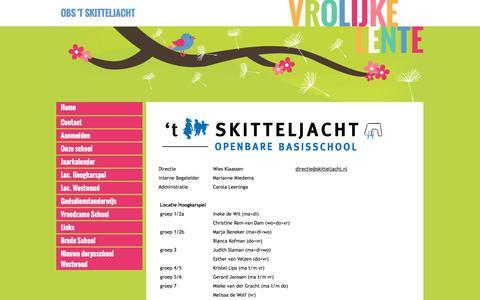 Screenshot of Team Page skitteljacht.nl - OBS 't Skitteljacht - Team - captured May 28, 2016
