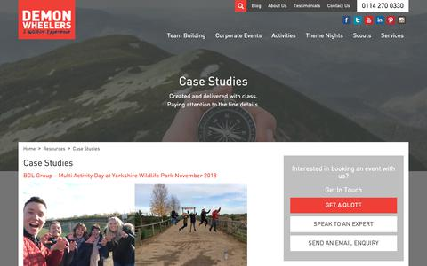 Screenshot of Case Studies Page demonwheelers.co.uk - Case Studies - Demon Wheelers - Events Across The UK - captured April 20, 2019