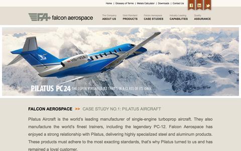 Screenshot of Case Studies Page falconaerospace.cc - CASE STUDIES   Falcon Aerospace - captured Sept. 30, 2014