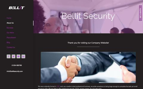 Screenshot of About Page bellitsecurity.com - About Us – Bellit Security - captured Oct. 10, 2017