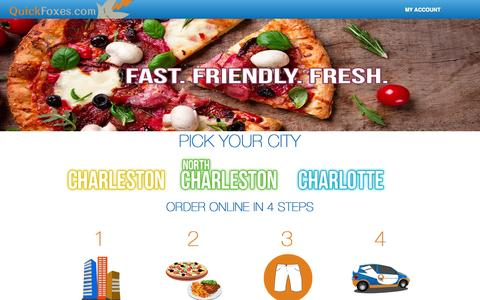 Screenshot of Locations Page quickfoxes.com - QuickFoxes.com - Restaurant Delivery and Catering - captured Sept. 29, 2015
