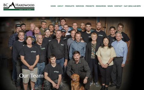 Screenshot of Team Page bchardwood.com - Our Team | BC Hardwood Floor Co. Ltd. - captured July 21, 2019