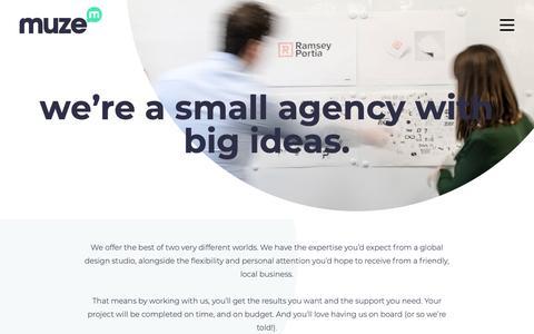 Screenshot of About Page muzecreative.co.uk - About Us | Brand Design Company | Muze Creative - captured Oct. 19, 2018