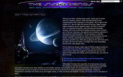 Screenshot of About Page thesuperbeings.net - Getting Started - The Superbeings - captured Nov. 22, 2017