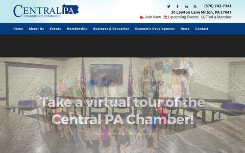 Screenshot of Home Page centralpachamber.com - Central PA Chamber of Commerce | Central PA Chamber of Commerce - captured July 20, 2017