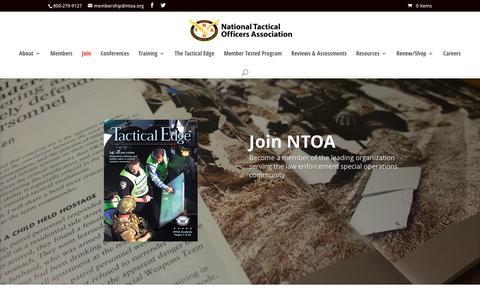 Screenshot of Signup Page ntoa.org - Membership | NTOA - captured Feb. 28, 2016