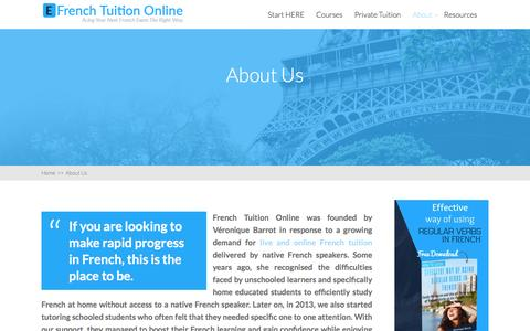 Screenshot of About Page efrenchtuitiononline.com - About Us - EFrench Tuition Online - captured Jan. 29, 2017