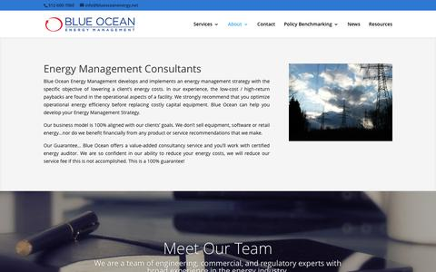 Screenshot of About Page blueoceanenergy.net - Blue Ocean Energy Management – Energy Management Consultants - captured June 1, 2017