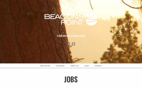 Screenshot of Jobs Page beaconspoint.com - Jobs - Beacons Point - captured Oct. 5, 2014
