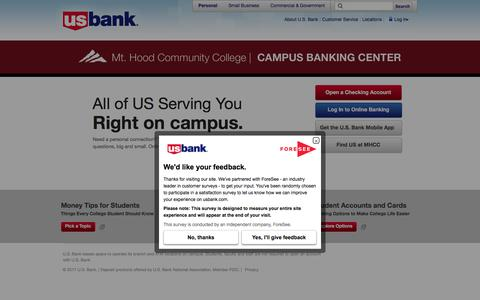 Mount Hood Community College | Campus Banking Center