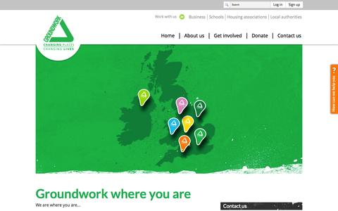 Screenshot of Maps & Directions Page groundwork.org.uk - Groundwork   Find a local contact - captured Sept. 30, 2014