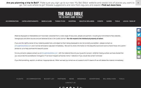 DMCA - The Bali Bible