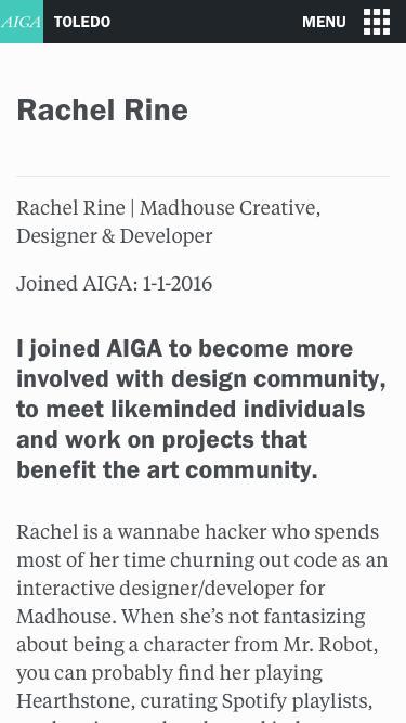 Rachel Rine | AIGA Toledo