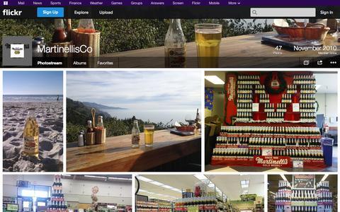 Screenshot of Flickr Page flickr.com - Flickr: MartinellisCo's Photostream - captured Oct. 23, 2014