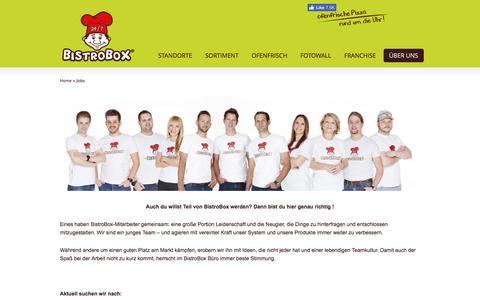 Screenshot of Jobs Page bistrobox.com - Jobs | BistroBox - captured June 1, 2017
