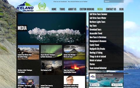 Screenshot of Press Page icelandunlimited.is - Media Archives - Iceland Unlimited Iceland Unlimited - captured Feb. 10, 2016